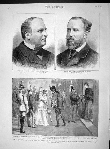 1893 EDWARD STANLEY ARTHUR BARON KING QUEEN ITALY ROME