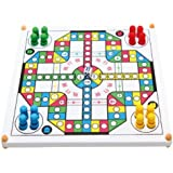 Full of fun Modern Ludo,multifunctional wooden board games,Snake and Ladder,B13-03-01