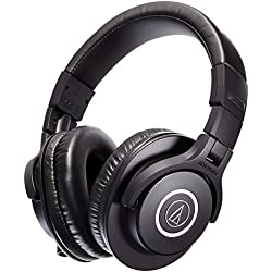 Audio-Technica ATH-M40x Professional Studio Monitor Headphones with Case + ATR 3350i Microphone
