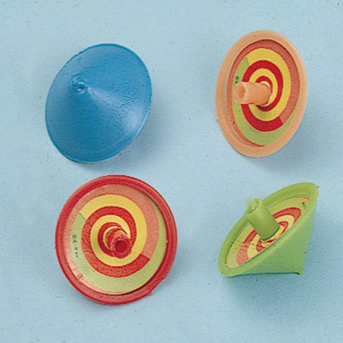 Lot Of 36 Assorted Spinning Top Toys - 1