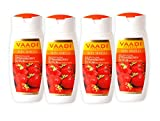 Strawberry Scrub Moisturizing Lotion with Walnut Grains - ★ Lightens and Softens the Skin - ★ Reduces Pigmentation and Tanning - ★ Removes Dead Skin Cells - ★ Suitable for All Skin Types - ★ Value Pack of 4 X 110ml (14.88 Ounces (440 Ml)) - Vaadi Herbals