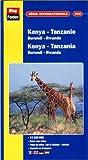 echange, troc Cartes Blay Foldex - Carte routière et touristique : Kenya - Tanzanie, N° 366 (avec un index)