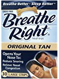Breathe Right Nasal Strips, Large, 30-Count Boxes (3 Pack)