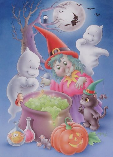 Magic Glow Series 100 piece jigsaw puzzle: GRANDMA'S COOKING....Glows in the Dark