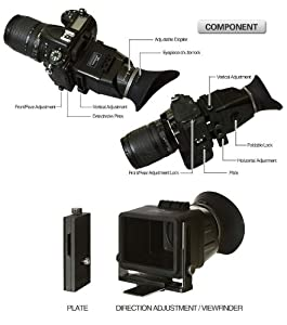 deepdeal Foldable Lcd Viewfinder VF-3 Swivi Universal LCD View Finder for DSLR