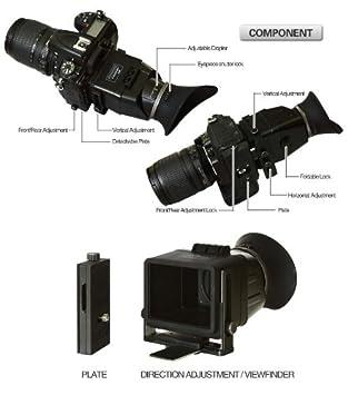 Cámara Digital 3X Magnifier Visor Parasol para 3//3.2 pulgadas Pantalla LC DSLR