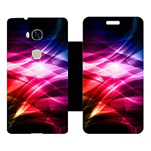 Skintice Designer Flip Cover with hi-res printed Vinyl sticker wrap-around for Huawei Honor 5X