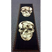 Area Rug Runner 2 Ft. X 7 Ft. 3 In. Skull Black/brown Design #134
