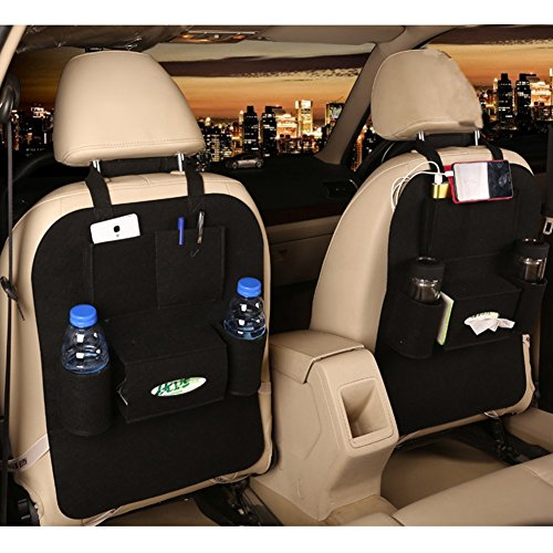 Buy M'Baby 1pc Car Backseat Organizer Woolen Felt Seat Pocket Protector Storage for Bottle, Tissue B...