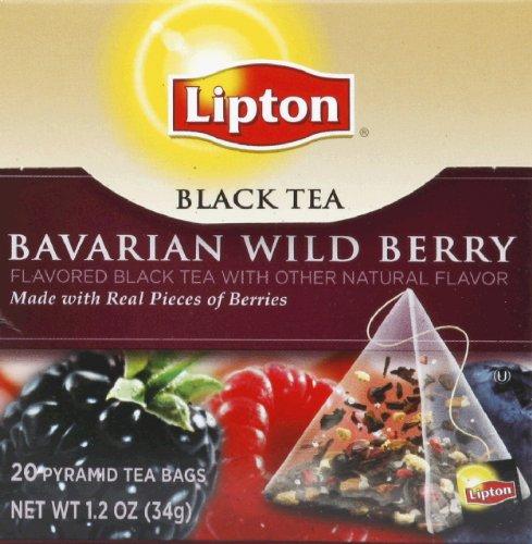 Lipton Black Tea, Bavarian Wild Berry 20 Count Box(Pack Of 12)