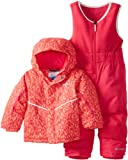 Columbia Kids Buga Bib and Jacket Set, Red Hibiscus Chex Mix, 3T