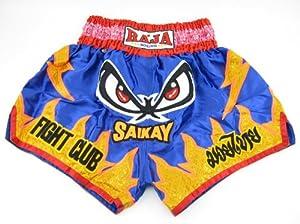 Buy Raja Blue No Fear Muay Thai Shorts by Raja Boxing
