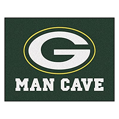 FANMATS 14304 NFL Green Bay Packers Nylon Universal Man Cave All-Star Mat