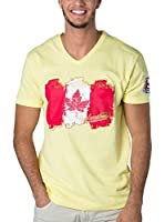 CANADIAN PEAK Camiseta Manga Corta Jerable (Amarillo)