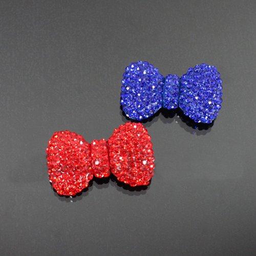 Rhinestone Bow Fashion Brooch Hm1013-bc207