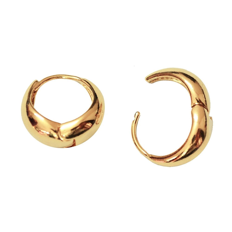 Via Mazzini Salman Khan Inspired Golden Metal Kaju Bali Hoop Earrings For  Men