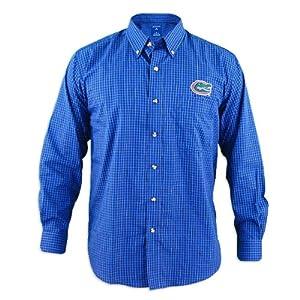 Florida Gators Esteem Blue Buttondown Long Sleeve Shirt by Antigua
