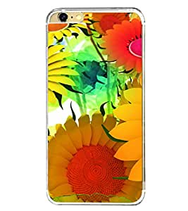 Bright Colourful Flower Pattern 2D Hard Polycarbonate Designer Back Case Cover for Apple iPhone 6s Plus :: Apple iPhone 6s+