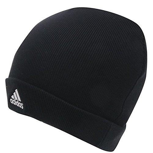 Adidas-Berretto lavorato a maglia da uomo, colore: nero