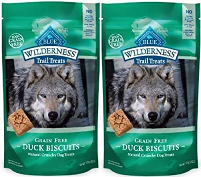 Blue Buffalo Wilderness Trail Treats Grain Free Duck Dog Biscuits, 10-ounce (2 Pack)