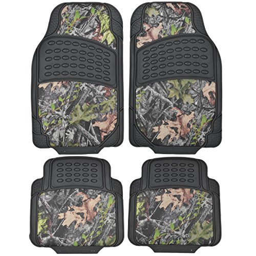 BDK Camouflage 4 Piece All Weather Waterproof Rubber Car Floor Mats - Fit Most Car Truck SUV, Trimmable, Heavy Duty (Ram Car Mats compare prices)