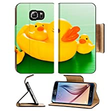 buy Msd Samsung Galaxy S6 Flip Pu Leather Wallet Case Closeup Duck Toy Image 34217143