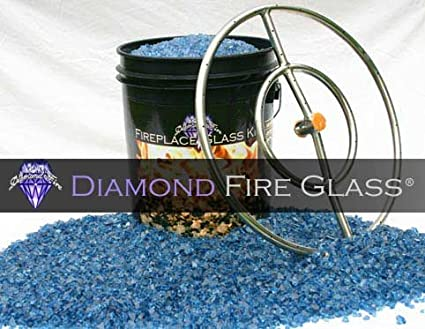 Glass Fire Pit Kits Fire Pit Glass Sapphire Blue