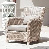 FAGO Lounge-Sessel 76 cm Kunststoffgeflecht antik-weiss SonnenPartner