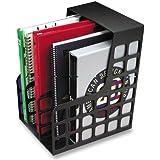 Oxford  Decorack Plastic Magazine File, 2 Dividers,Black, 9W x 10-5/8D x 12H,1 Per Box, ( 23004)
