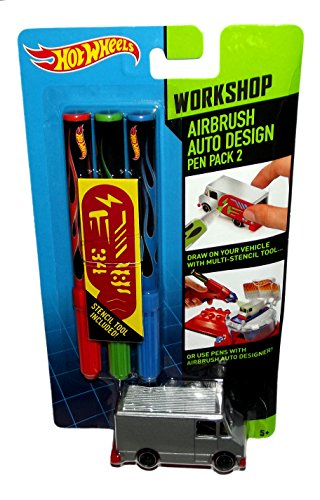 Hot Wheels Airbrush Auto Design Workshop Pen Pack 2 - 1