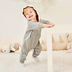 ALLAIBB Baby Shark Costume Onesie Cotton 3D Cartoon Romper Cute Jumpsuit Hooded Outwear for Newborn Infant Kids Boys Girls 9-12M,  Pink