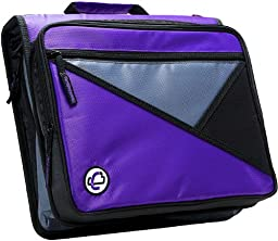 Case-it Universal 2-Inch 3-Ring Zipper Binder, Holds 13 Inch Laptop, Purple, LT-007-PUR