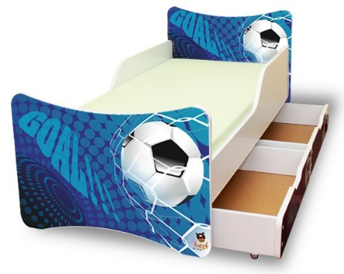 best for kids kinderbett 90x200 mit zwei schubladen goal. Black Bedroom Furniture Sets. Home Design Ideas