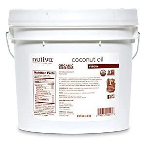 Nutiva Organic Virgin Coconut Oil (8-Pound), 1-Gallon Tub