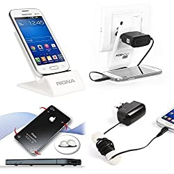 Riona Mobile holder A4S White + Hanger Stand + Cable Organizer + Scratch Guar... A4SW-C