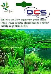 DCS (087) 50 New aquarium grass seeds (mix) water aquatic plant seeds (15 kinds) family easy plant seeds