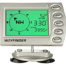 Wayfinder V7000 Digital Vehicle Compass W/ Thermometer, Barometer, and Altimeter