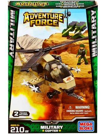 Mega Bloks Adventure Force Military Copter Set #94425