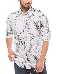 Shuffle Men's Casual Shirt (8907423017566_2021511501_Small_White)
