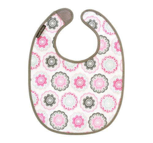 Dwellstudio Coated Canvas Bib, Zinnia Rose (Discontinued by Manufacturer)