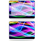 MightySkins Protective Skin Decal Cover for Asus Transformer TF300 10.1 inch screen tablet stickers skins Light waves