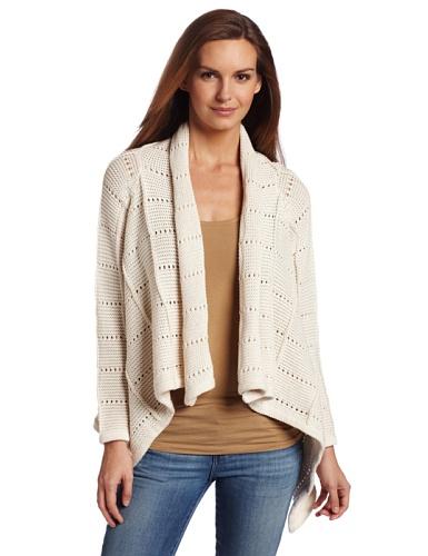 Pure Handknit Women's Heartbreaker Cardigan Sweater, Cream, X-Small/Small