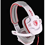 SuperStore_Electronics(TM) SADES SA-708 3.5mm Stereo Headset Headphones Gaming Headset Stereo Headset Headband Sa-708 Pro Game Earphone Bass Headphones with Microphone for Pc Laptop Mobile (White)