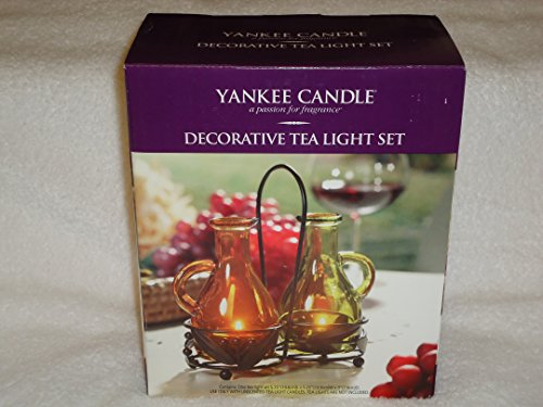Yankee Candle Cruet 3-Piece Tea Light Holder Set New In Gift Box