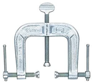 Adjustable Clamp 3325 Pony 3-way edging clamp. Opening capacity 2-1/2-Inch x 2-1/2