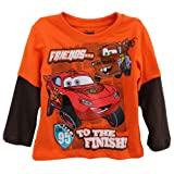 Disney Cars Lightning McQueen Mater Friends... Orange T-Shirt 2T-4T
