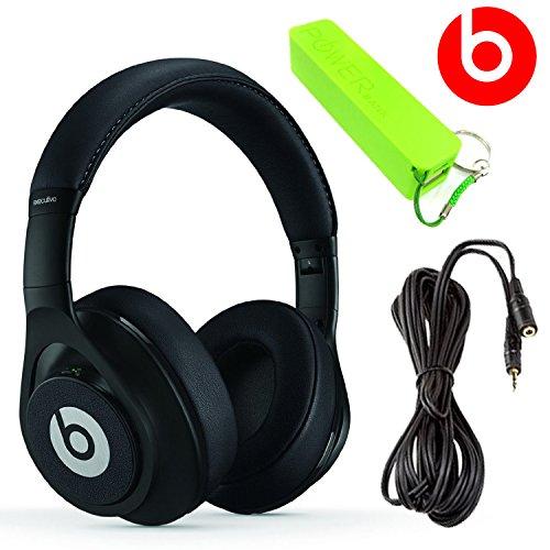 Beats By Dr. Dre Executive Over-Ear Headphones (Black) + 3.5Mm Stereo Headphone Extension 10 Feet + External Battery Power Bank Pack