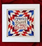 img - for America Sweet Land Of Liberty Cross Stitch Chart book / textbook / text book
