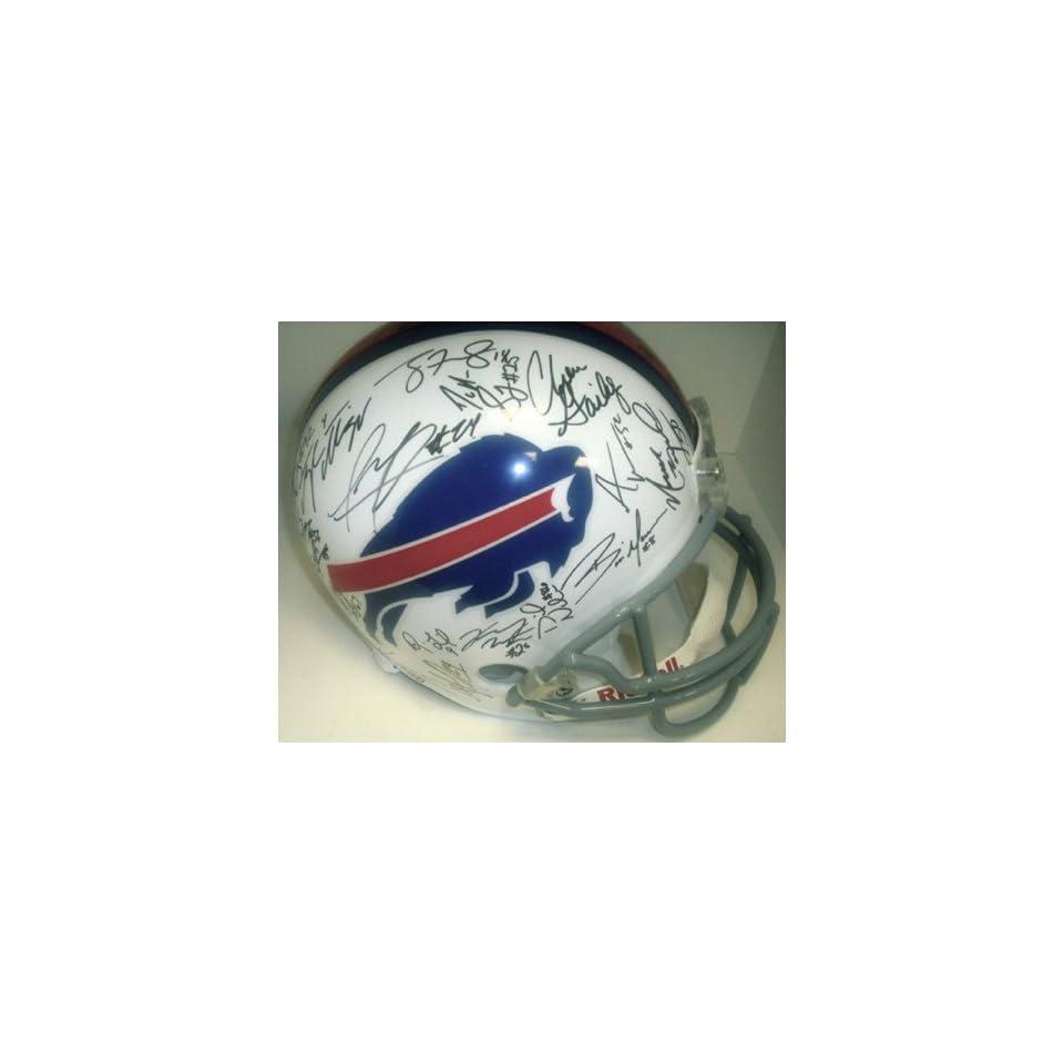 Buffalo Bills 2011 Team Hand Signed Autographed Football Helmet