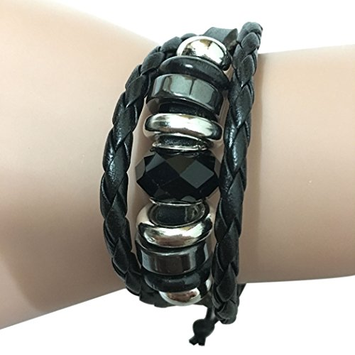 Time Pawnshop Simple Classic Black Braided Multilayer Adjustable Fashion Wrist Bracelet